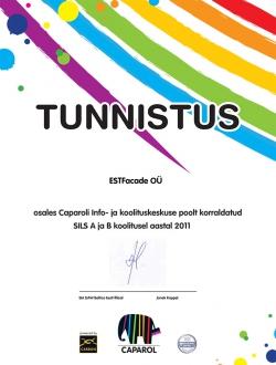 Caparoli tunnistus 2011